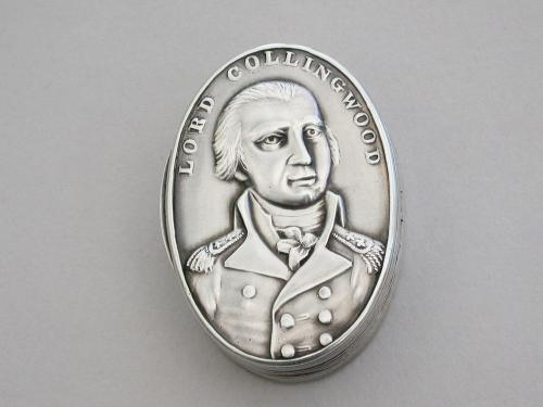 George III Commemorative Silver Vinaigrette - Vice Admiral Lord Cuthbert Collingwood