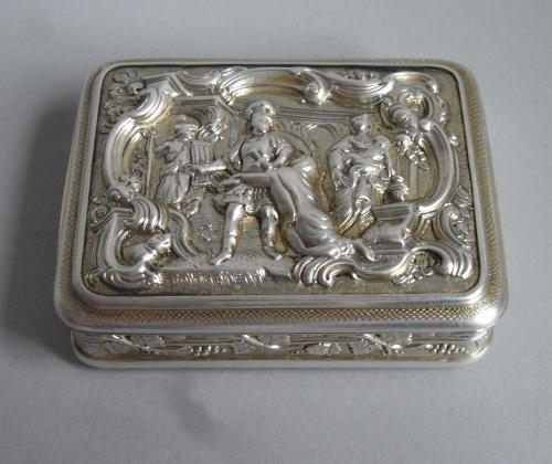 Hector & Andromache. A very rare George III Snuff Box made in London in 1810 by Joseph Ash