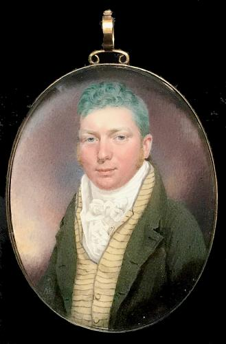 A Portrait Miniature Of An Unknown Gentleman, Peter Paillou, 1813
