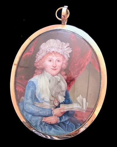 A Lady Possibly The Artist's Wife, Henry Spicer, Circa 1785