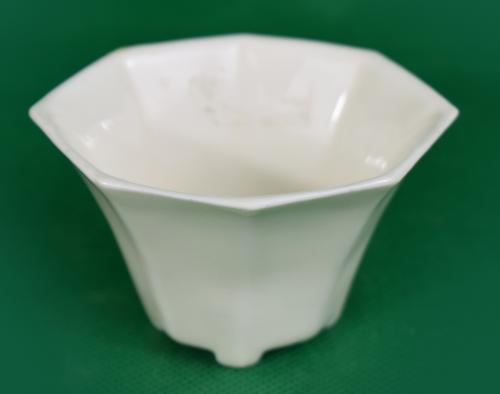Blanc de Chine Porcelain libation cup of octagonal form