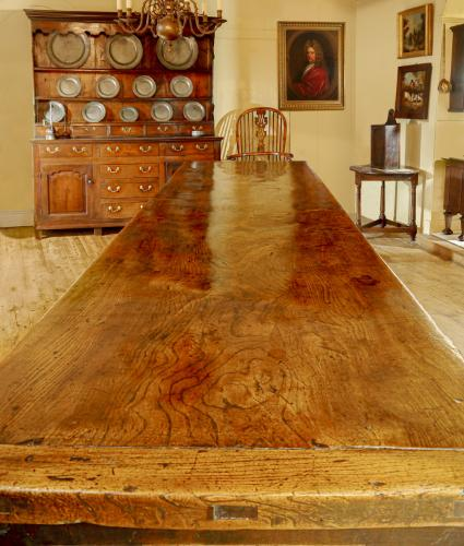 A Superb 18th Century Elm Farmhouse Table