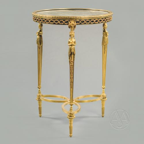 Fine Louis XVI Style Gilt-Bronze Gueridon In the Manner of Adam Weisweiler
