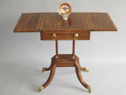 Sheraton period mahogany patience table, circa 1800.