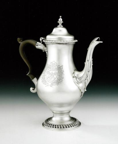An extremely fine George III Coffee Pot made in London in 1772 by John Deacon