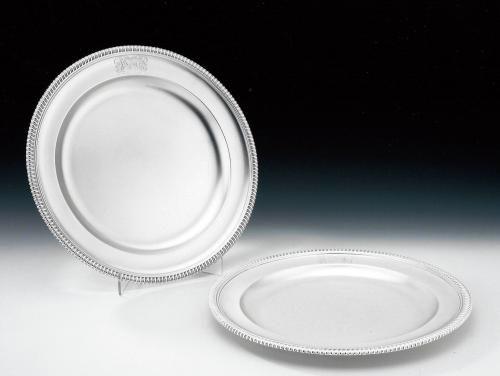 An exceptionally fine pair of George III Second Course Dishes made in London in 1802 by William Stroud