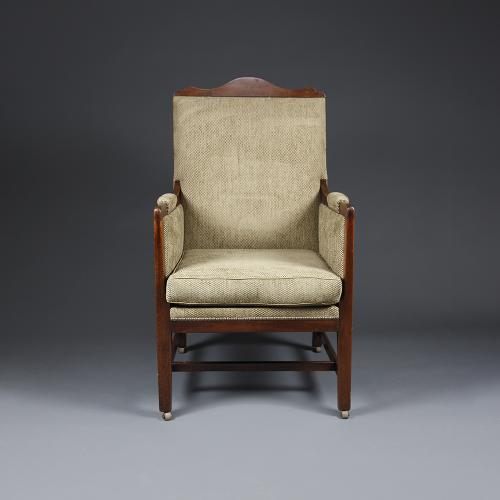 An early 20th century mahogany upholstered chair