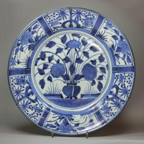 A Japanese Blue and White Chinese Dish