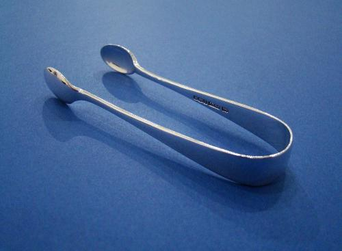 Small Silver Sugar Tongs