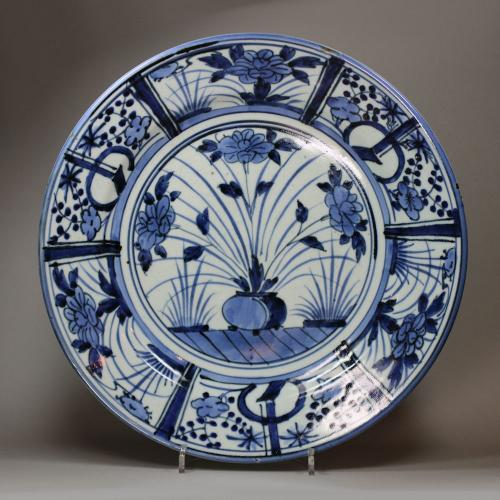 A Japanese Blue and White Arita Dish