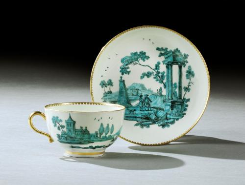 Saltram: A Worcester Teacup and Saucer