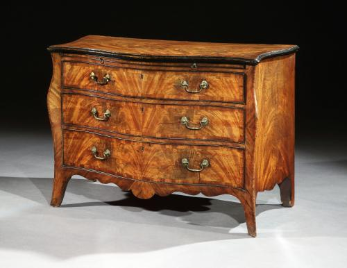 Henry Hill: A George III Mahogany Serpentine Commode