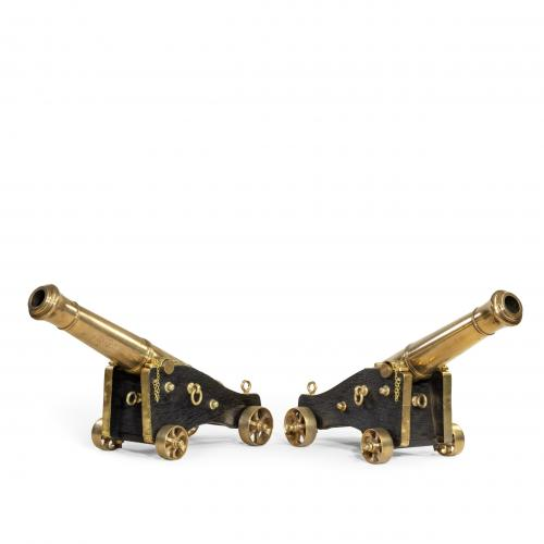 Pair of Bronze Cannon by McAndrew English, circa 1850