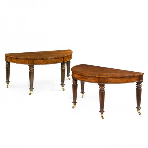 Early Victorian mahogany console tables attributed to Gillows