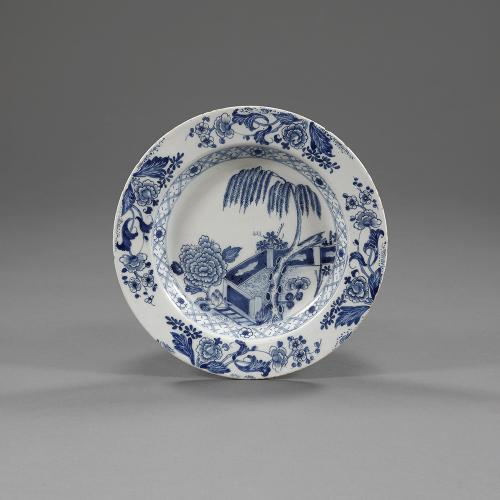 An 18th century blue and white charger