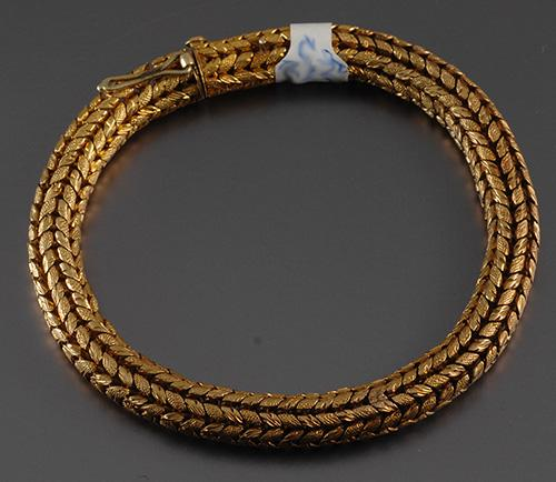 18ct gold Victorian rope bracelet