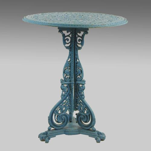 Aesthetic Movement cast iron table after a design by Christopher Dresser
