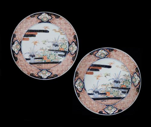 A Pair of Large 19th Century Japanese Imari Chargers