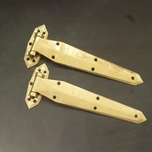 Art Deco antique brass hinges