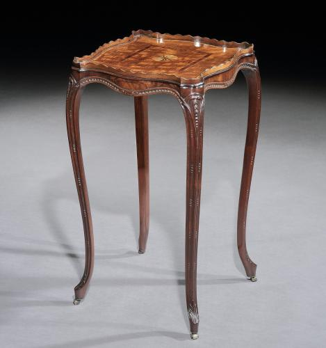 A George III Marquetry Inlaid Mahogany Urn Table