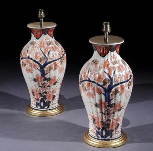 A Pair of Imari Style Lamps