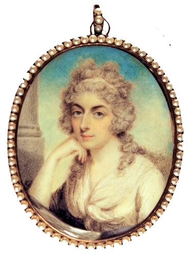 An 18th Century Portrait Miniature Of A Young Lady With Powdered Hair, Philip Jean, circa 1790