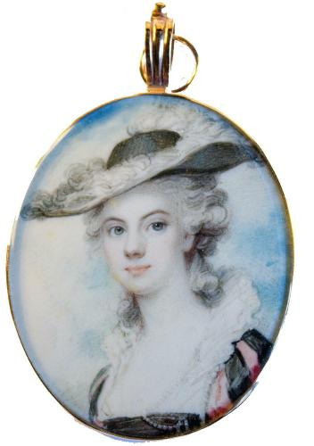 A Very Beautiful Portrait Of An Unknown Lady, Richard Cosway, circa 1790