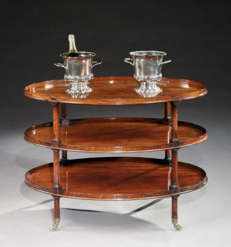 A Regency Mahogany Tiered Tray Table