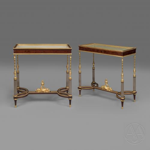 Louis XVI Style Gilt-Bronze Mounted Vitrine Tables