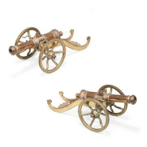 cannon brass model nineteenth century