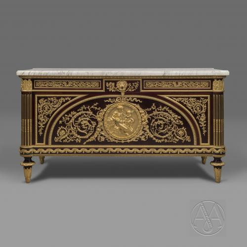 Louis XVI Style Commode À Vantaux After a Model By Guillaume Benneman and Joseph Stöckel