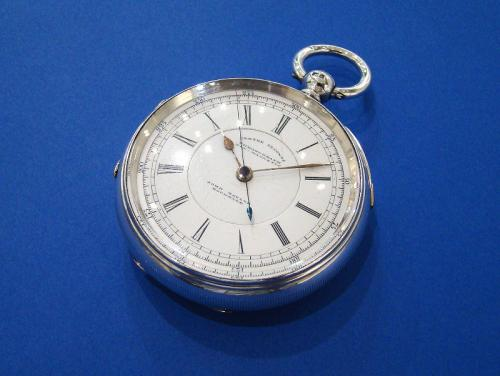 Victorian Silver & Gold Chronograph Pocket Watch