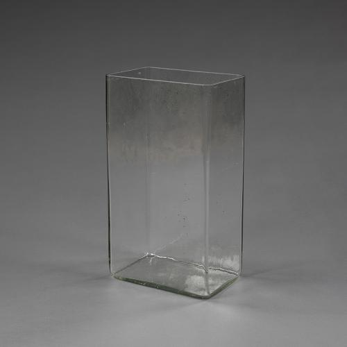 A very large mid 20th century glass Battery vase