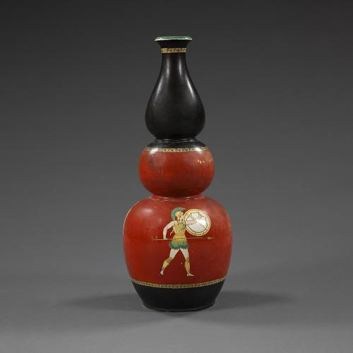 An early 20th century pottery vase