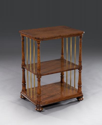 George IV 19th Century Burr Oak Etagere in the Manner of Gillows
