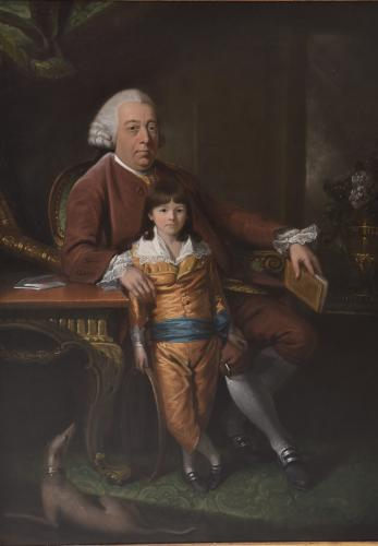18th century Oil On Canvas of the Author, Samuel Richardson, by Mason Chamberlain