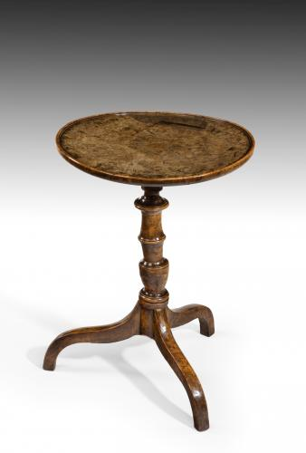 6717 George IV Burr Elm Tripod Table