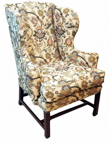 Antique Chippendale Period Mahogany Wing Armchair (England, circa 1760)