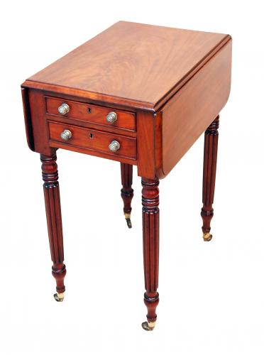 Antique Regency Mahogany Baby Pembroke Table