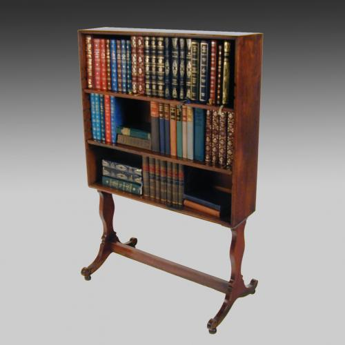 Small 19th century Georgian Mahogany Bookcase on Stand-3