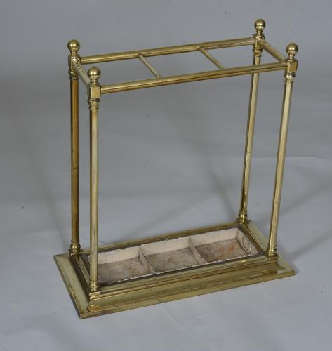 19th century Brass Stick or Umbrella Stand