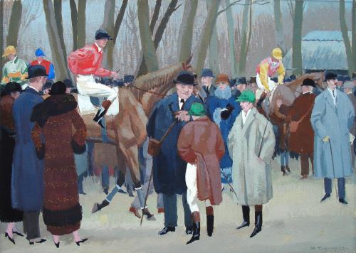 Aux Courses, 1923 by Maurice Taquoy (1873-1952)