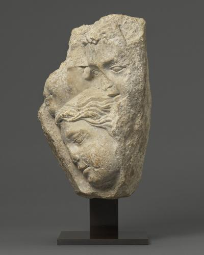 Relief with Group of Faces, Limestone France, c. 1200 – 1220