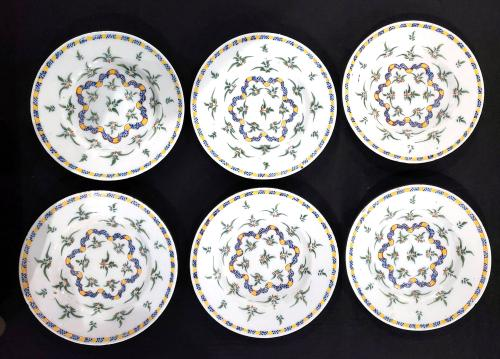 Dutch Delft set of six plates