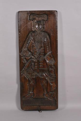 S/4030 Antique Treen 18th Century Birch Double Sided Gingerbread Mould