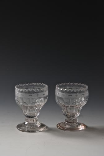 A pair of moulded salts. English c.1800