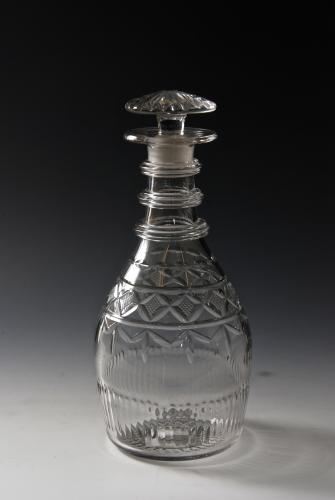 Good heavy decanter c.1815