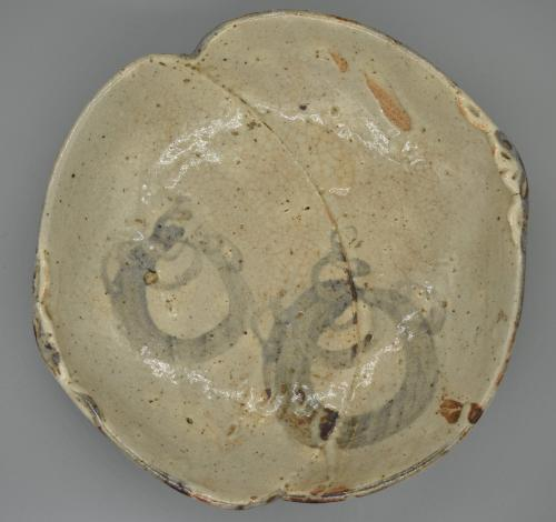 Shino Ware: 2 Shell Shaped Plate with three feet
