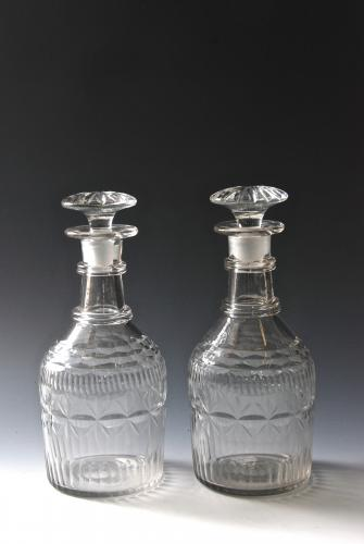 Pair of decanters c.1800-20