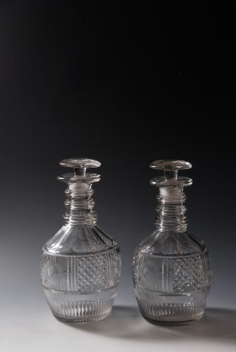 A fine pair of decanters